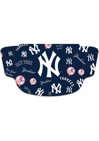 New York Yankees Scattered Fan Mask - Blue
