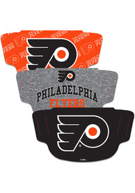 Philadelphia Flyers 3pk Fan Mask - Orange