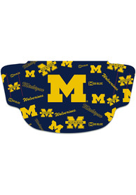 Michigan Wolverines Scattered Fan Mask - Navy Blue