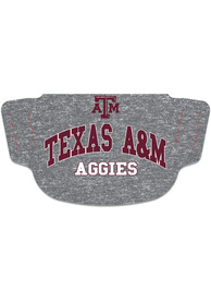 Texas A&M Aggies Heathered Grey Fan Mask - Red
