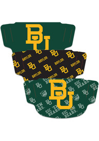 Baylor Bears 3pk Fan Mask - Green