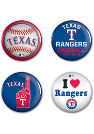 Texas Rangers 4pk Button
