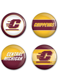 Central Michigan Chippewas 4pk Button