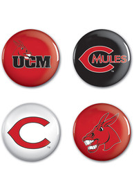 Central Missouri Mules 4pk Button