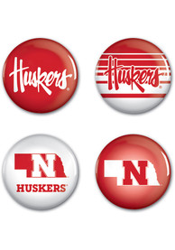 Nebraska Cornhuskers 4pk Button