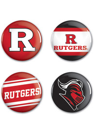 Rutgers Scarlet Knights 4pk Button