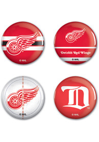 Detroit Red Wings 4pk Button