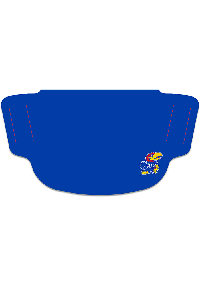 Kansas Jayhawks Small Logo Fan Mask - Blue