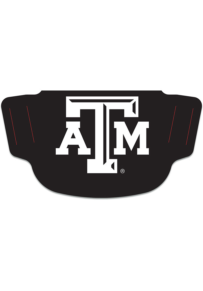 Texas A&M Aggies Black Team Logo Fan Mask - Black