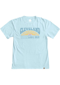 Cleveland Women's Powder Blue Lake Erie Sun Short Sleeve T-Shirt