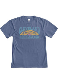 Cleveland Women's Pacific Blue Lake Erie Sun Short Sleeve T-Shirt