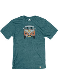 Springfield Heather Dark Teal VW Bus Short Sleeve T-Shirt