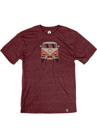 Springfield Heather Maroon VW Bus Short Sleeve T-Shirt