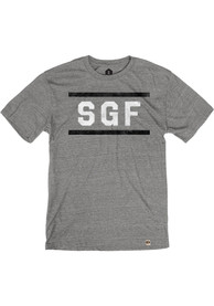 Springfield Heather Grey SGF Block and Bars Short Sleeve T-Shirt