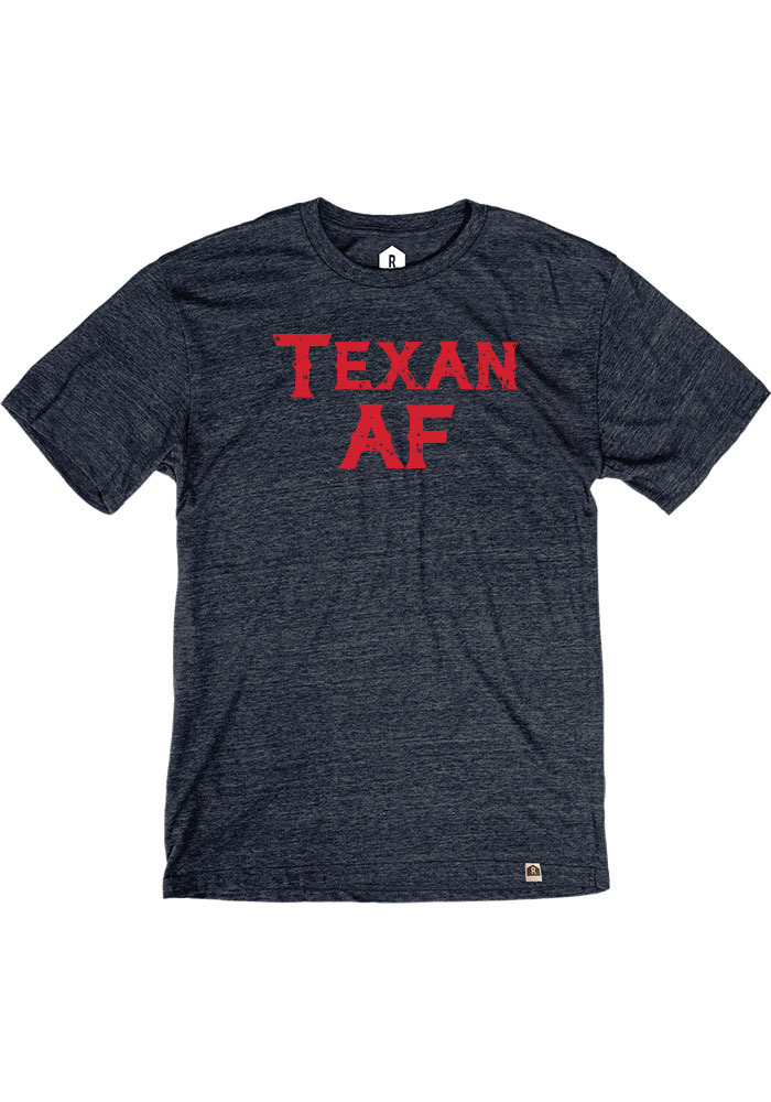 Texas Heather Navy Texan AF Short Sleeve T-Shirt - Image 1