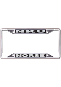 Northern Kentucky Norse Black and Silver Metallic License Frame