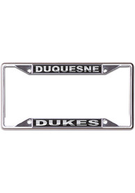 Duquesne Dukes Black and Silver License Frame
