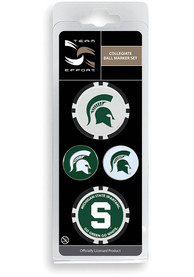 Michigan State Spartans 4-Pack Set Golf Ball Marker