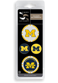 Michigan Wolverines 4-Pack Set Golf Ball Marker