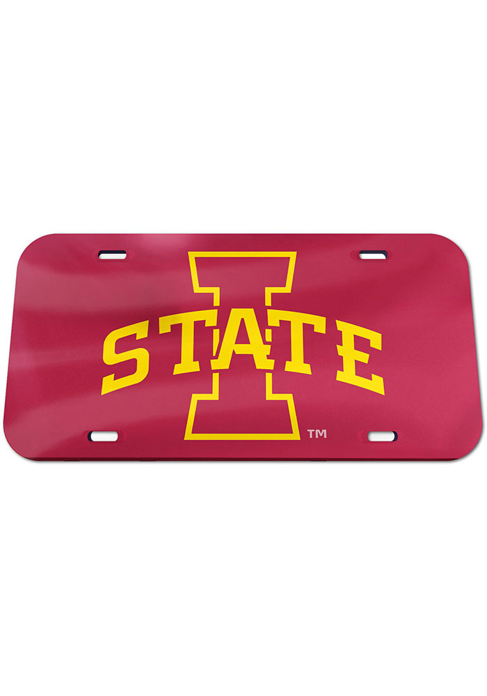 Iowa State Cyclones Team Color Acrylic Car Accessory License Plate