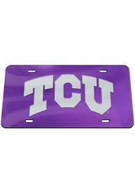 TCU Horned Frogs Team Color Acrylic Car Accessory License Plate