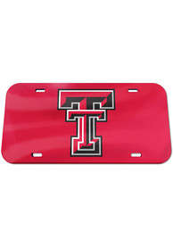 Texas Tech Red Raiders Team Color Acrylic Car Accessory License Plate