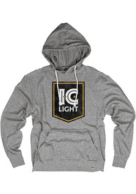 Pittsburgh Brewing Heather Grey IC Light Long Sleeve Lightweight Hoodie