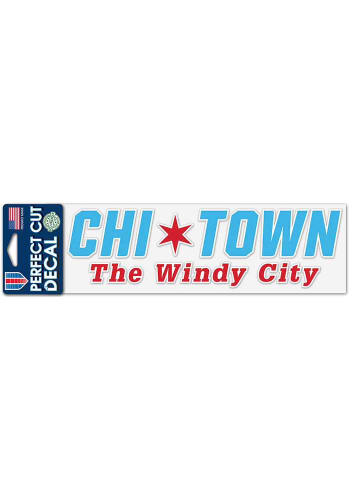 Chicago Windy City 3x10 Auto Decal - - Image 1