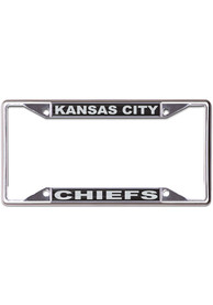 Kansas City Chiefs Black and Silver License Frame
