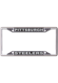 Pittsburgh Steelers Black and Silver License Frame