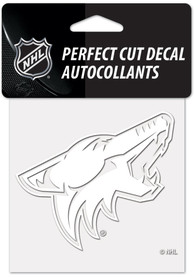 Arizona Coyotes White 4x4 Inch Auto Decal - White