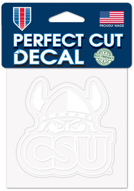 Cleveland State Vikings 4x4 White Auto Decal - White