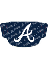 Atlanta Braves Repeat Logo Fan Mask - Red
