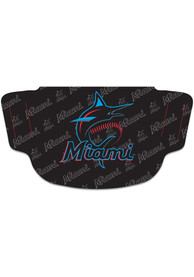 Miami Marlins Repeat Logo Fan Mask - Blue