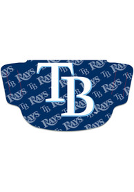 Tampa Bay Rays Repeat Logo Fan Mask - Navy Blue