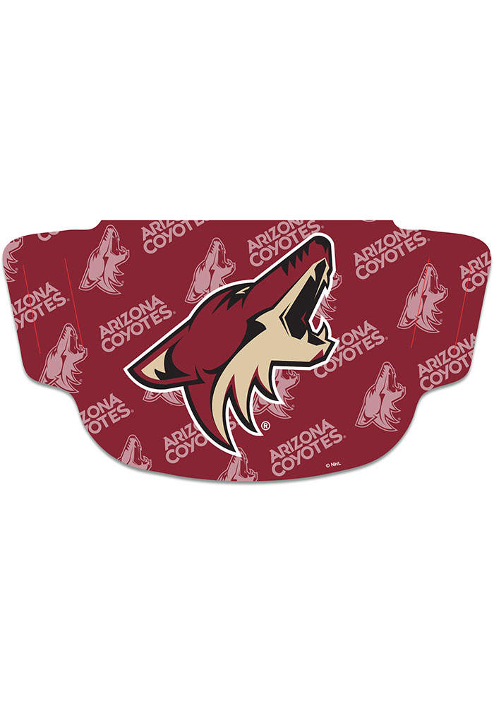 Arizona Coyotes Repeat Logo Fan Mask - Red
