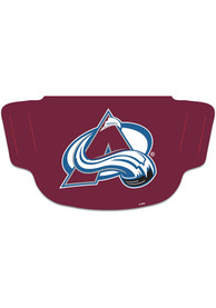 Colorado Avalanche Team Logo Fan Mask - Burgundy