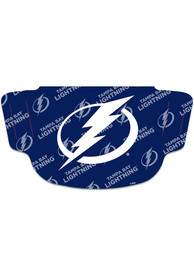 Tampa Bay Lightning Repeat Logo Fan Mask - Blue