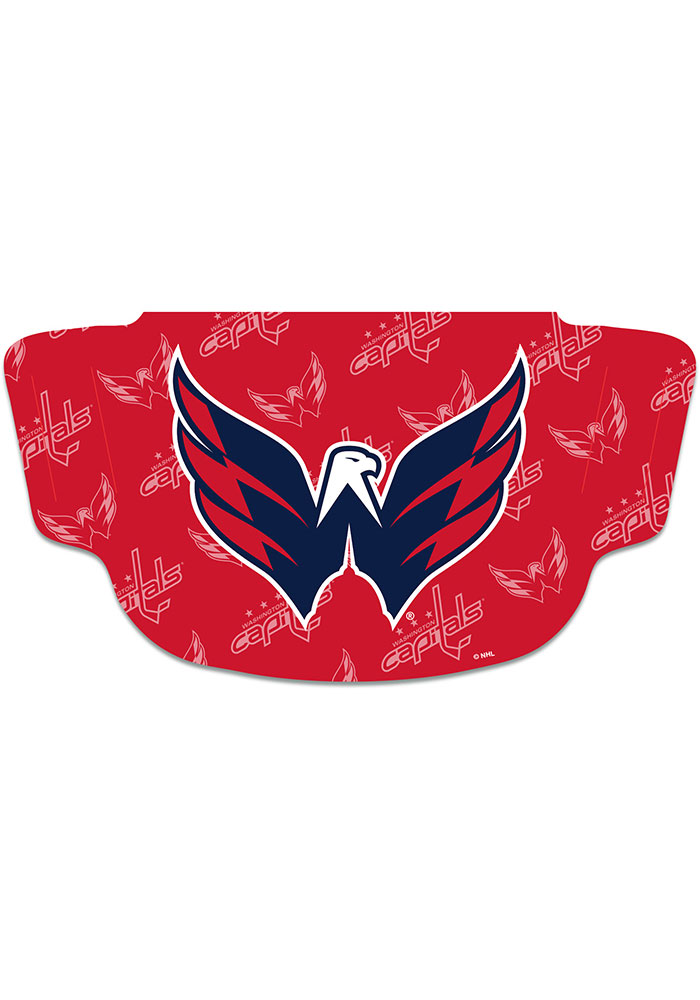 Washington Capitals Repeat Logo Fan Mask - Red