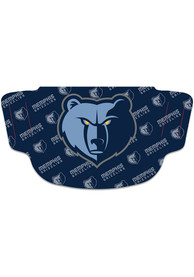 Memphis Grizzlies Repeat Logo Fan Mask - Blue