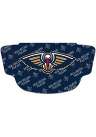 New Orleans Pelicans Repeat Logo Fan Mask - Navy Blue