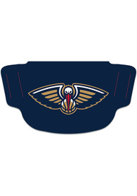 New Orleans Pelicans Team Logo Fan Mask - Navy Blue