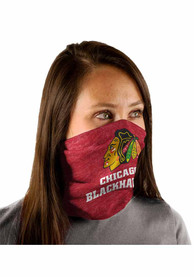 Chicago Blackhawks Heathered Fan Mask - Black