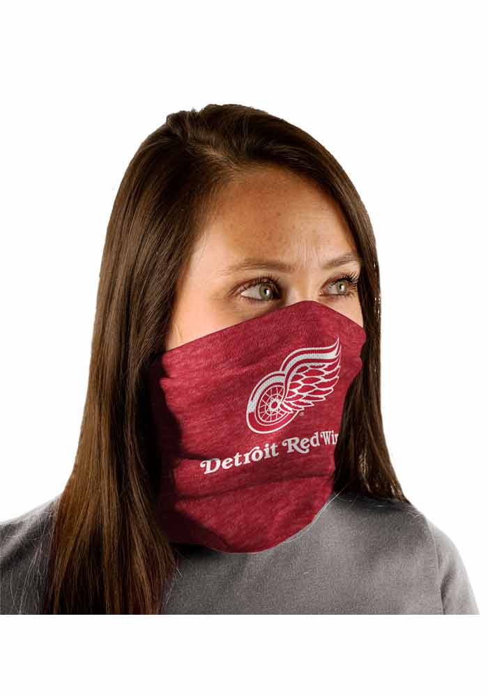 Detroit Red Wings Heathered Fan Mask - Red