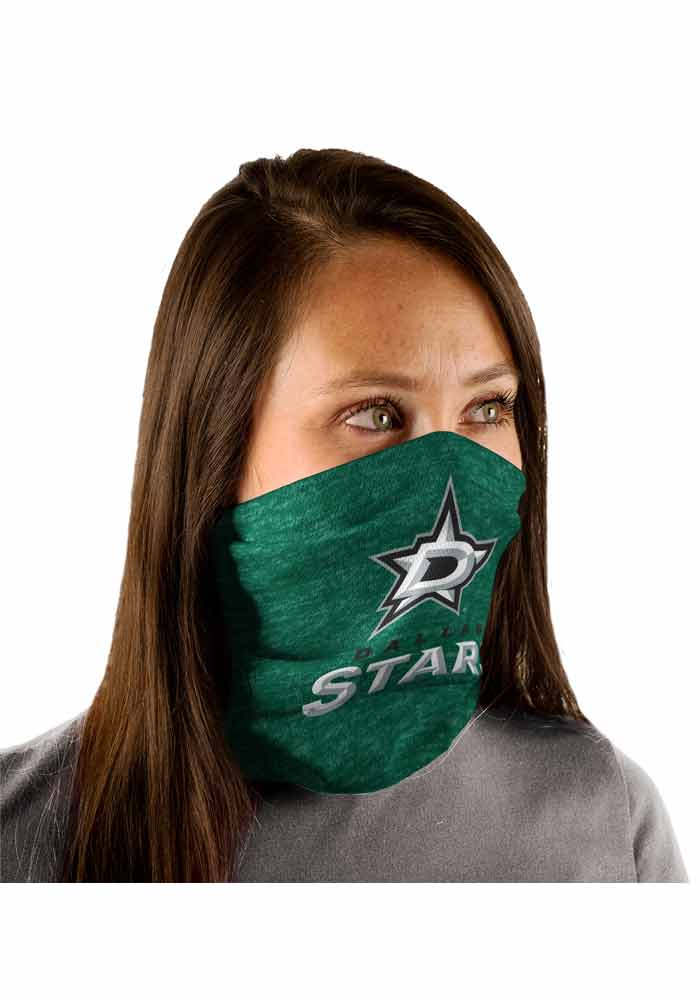 Dallas Stars Heathered Fan Mask - Green