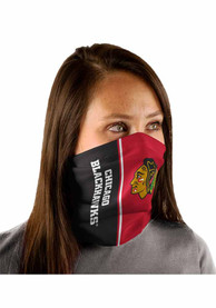 Chicago Blackhawks Split Color Fan Mask - Black