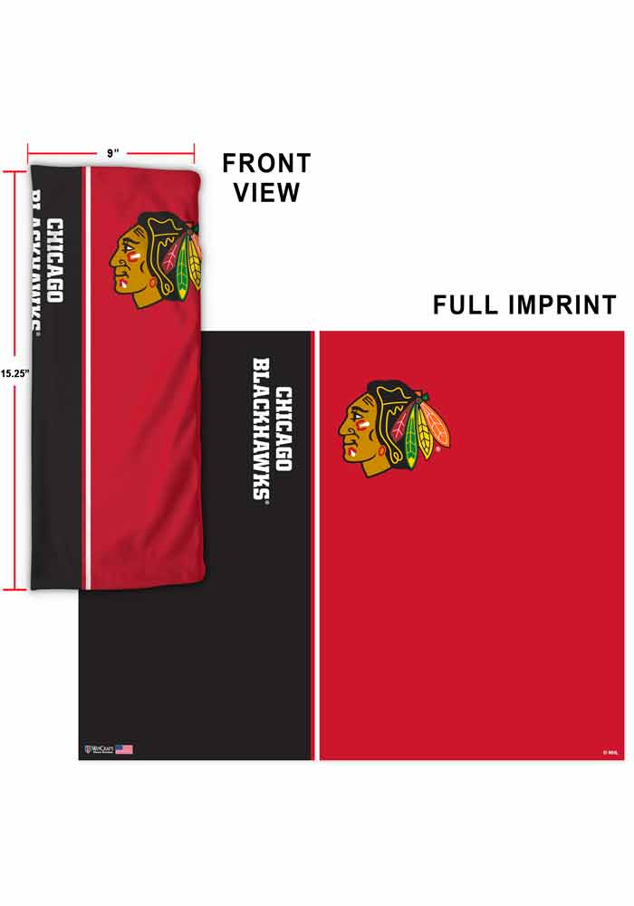 Chicago Blackhawks Split Color Fan Mask - Image 2