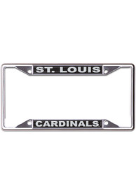 St Louis Cardinals Black and Silver License Frame