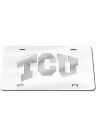 TCU Horned Frogs Frosted Car Accessory License Plate