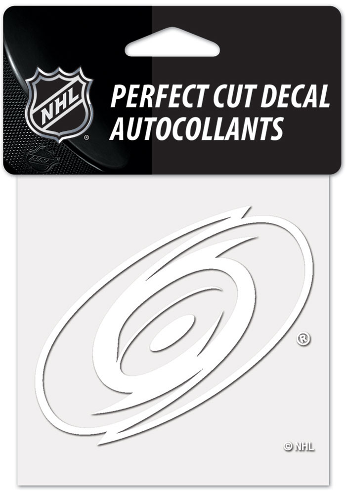 Carolina Hurricanes White 4x4 Inch Auto Decal - White
